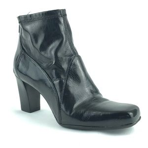 Franco Sarto Merc Black Faux Patent Leather Bootie